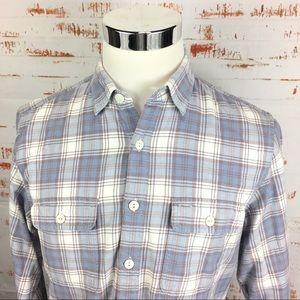 J Crew men's Flannel Button Up shirt m